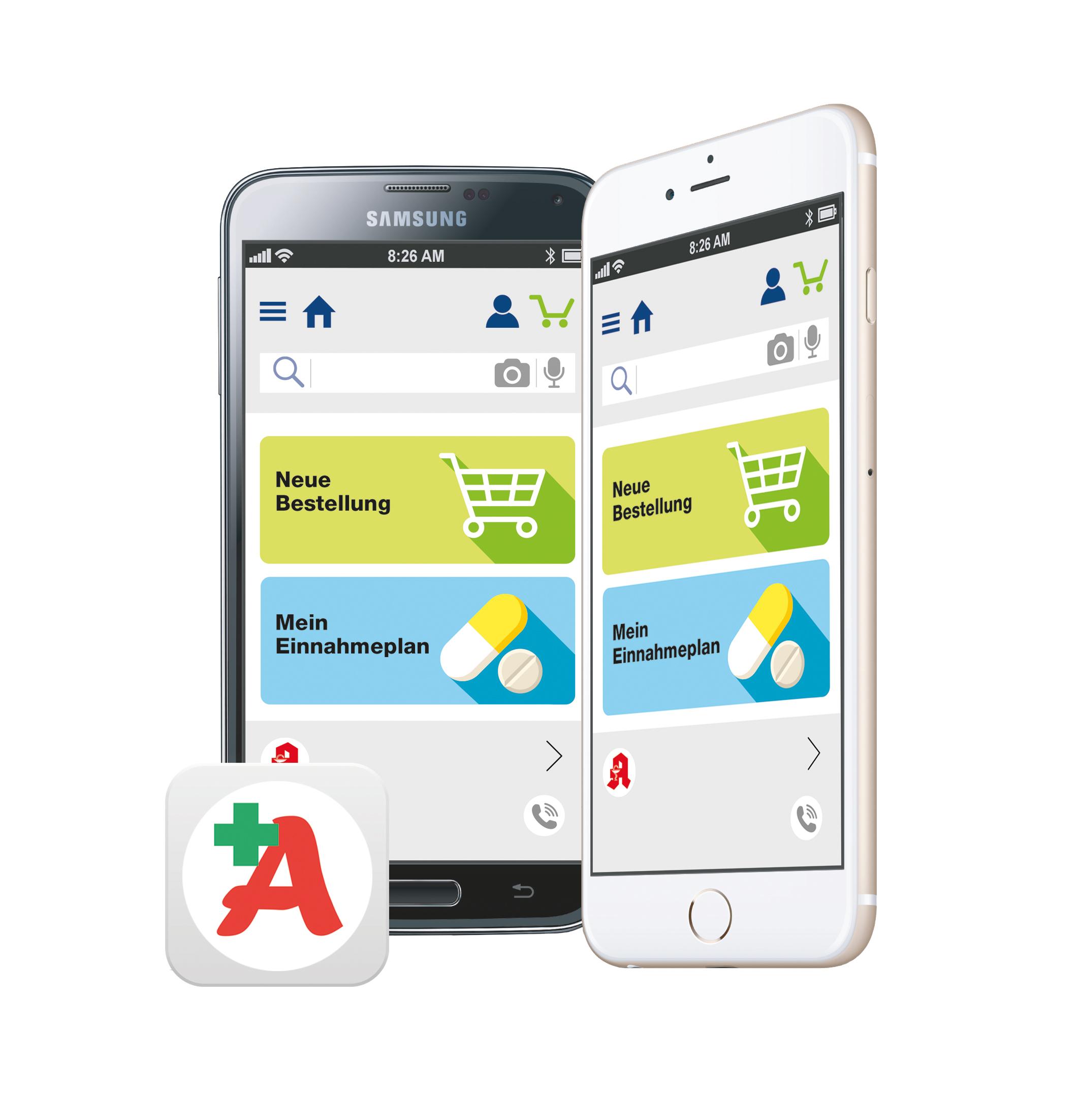 Die App auf dem Samrtphone